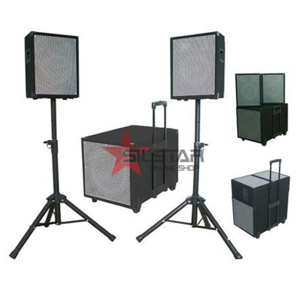 Kit Subwoofer 12 Inch+2 Sateliti 8 Inch + 2 Stand Boxa-CUBE1208