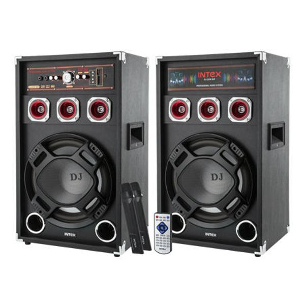 (KOM0655) SET 2 BOXE DJ CU 2 MICROFOANE WIRELESS DJ-220